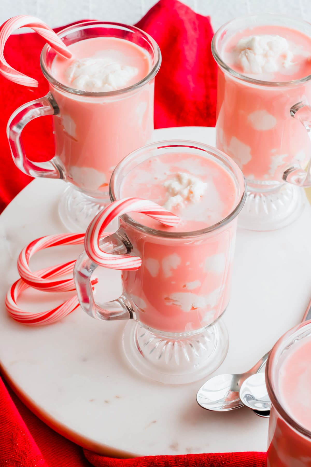 delicious Candy Cane Affogato recipe by top Houston lifesyle blogger Ashley Rose of Sugar and Cloth #recipes #christmas #holiday #entertaining #idea