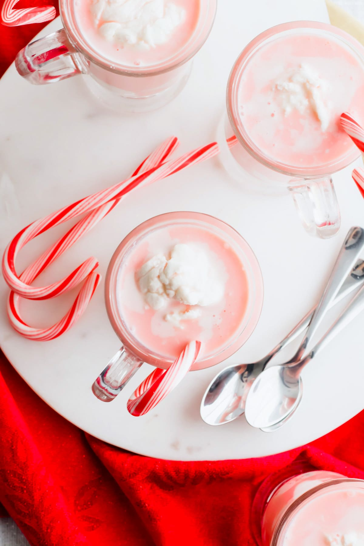 winter Candy Cane Affogato recipe by top Houston lifesyle blogger Ashley Rose of Sugar and Cloth #recipes #christmas #holiday #entertaining #idea