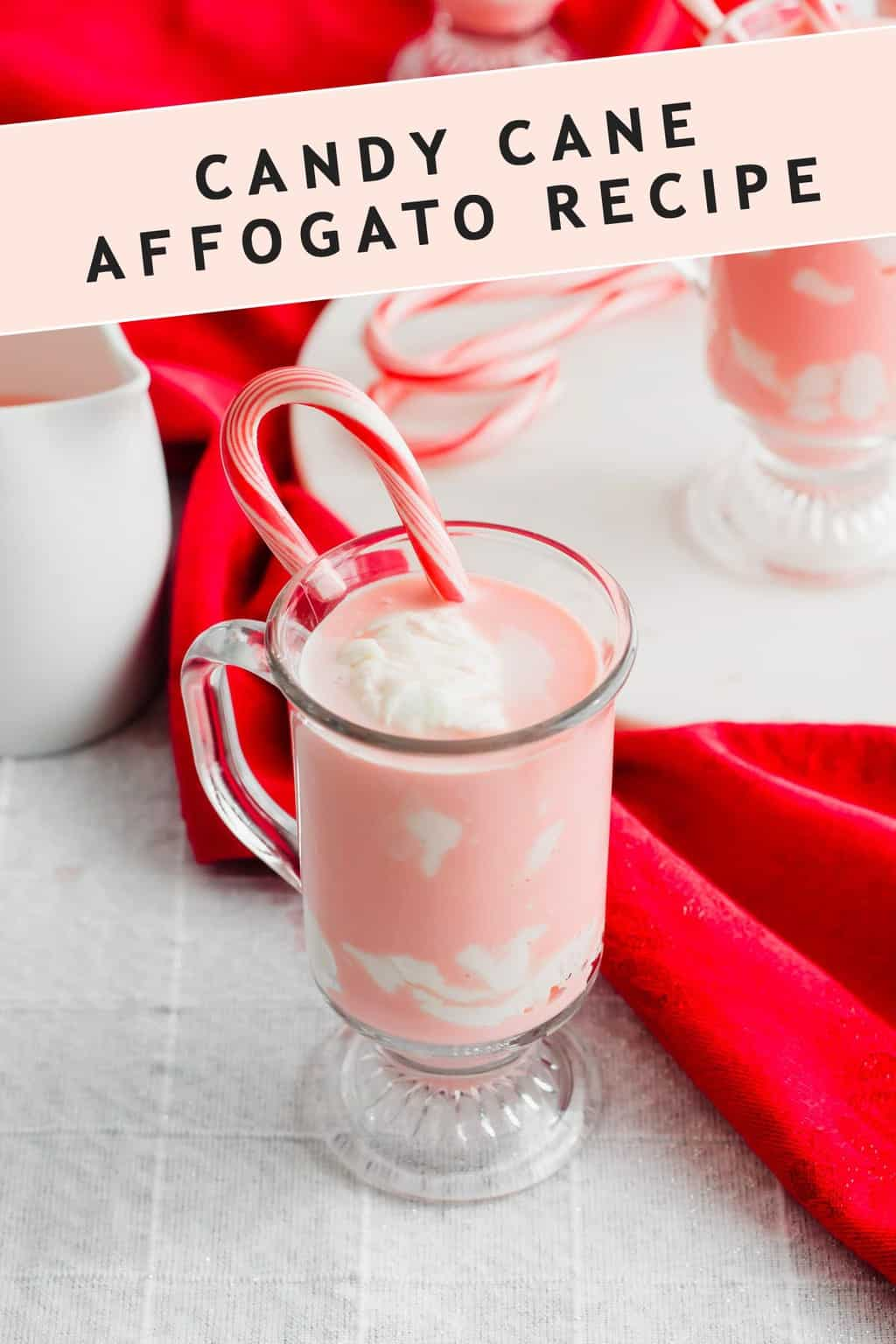 photo of the recipe card on how to make peppermint hot chocolate by top Houston lifestyle blogger Ashley Rose of Sugar & Cloth