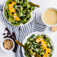 the perfect salad! A Cranberry Orange Salad with Creamy Citrus Vinaigrette by top Houston lifestyle blogger Ashley Rose of Sugar & Cloth