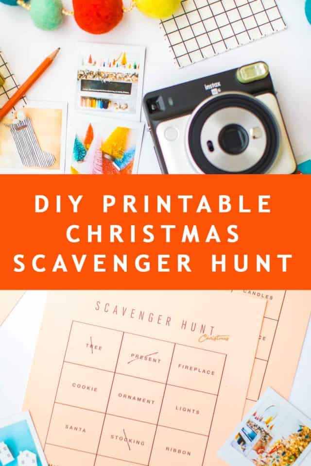 photo of a printable christmas scavenger hunt game