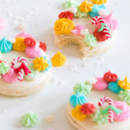 colorful holiday cookies - How to Make Holiday Wreath Meringue Macarons by top Houston lifestyle blogger Ashley Rose of Sugar & Cloth #holiday #cookies #meringues #wreath #christmas #ideas