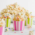 White Chocolate Funfetti Popcorn