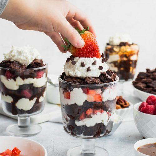 Brownie Parfaits Recipe Cups