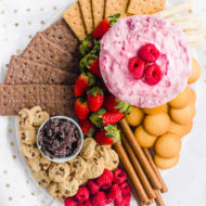Raspberry Cream Cheese Dip Recipe Main