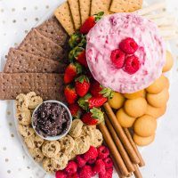 Raspberry Cream Cheese Dip Recipe & Dessert Board