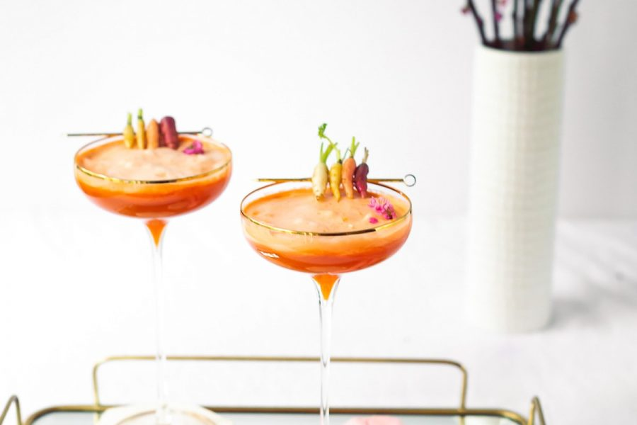 24 Carrot Cocktail Recipe by top Houston lifestyle blogger Ashley Rose of Sugar & Cloth