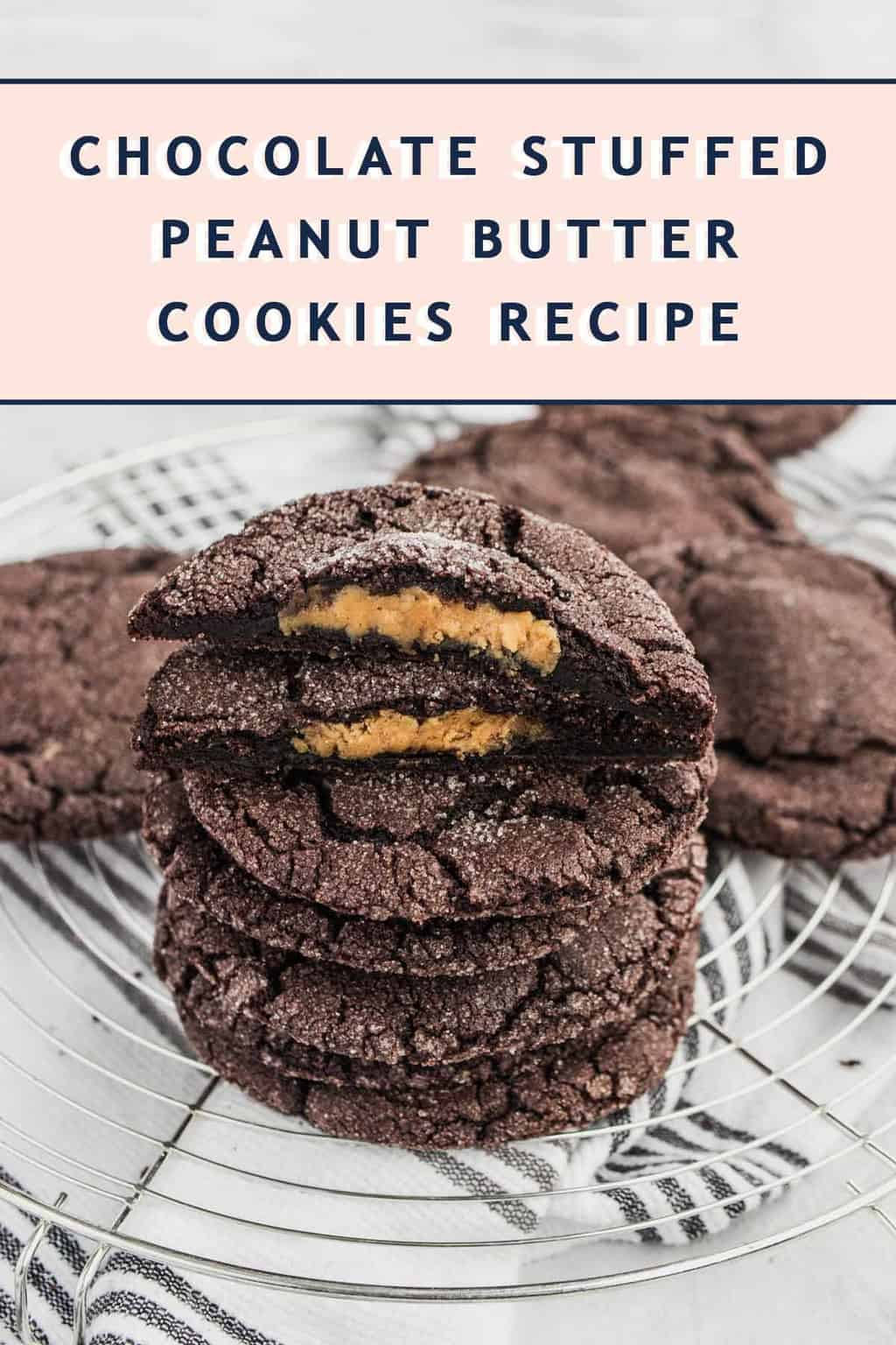 photo of how to make the best chocolate peanut butter stuffed cookies recipe by top Houston lifestyle blogger Ashley Rose of Sugar & Cloth