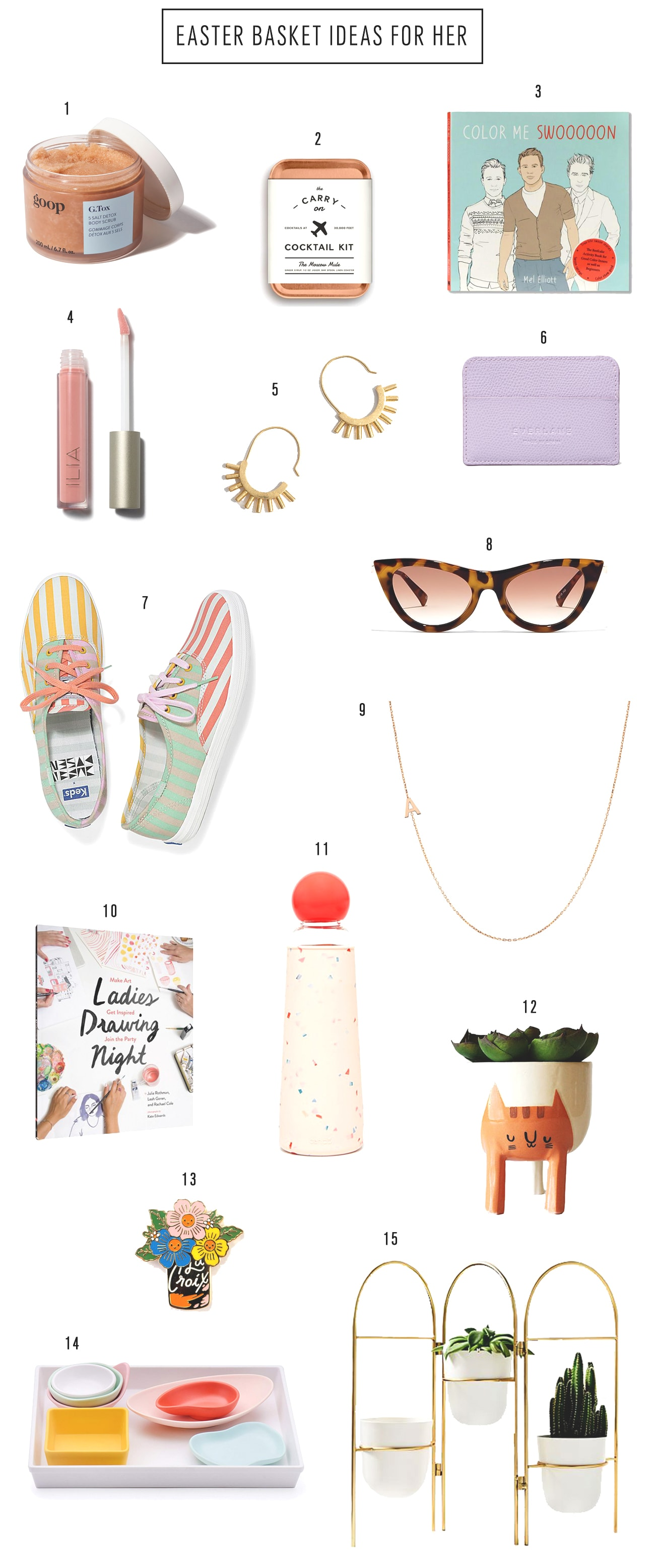 Easter Basket Ideas For Herby top Houston lifestyle blogger Ashley Rose of Sugar & Cloth #easter #easterbasket