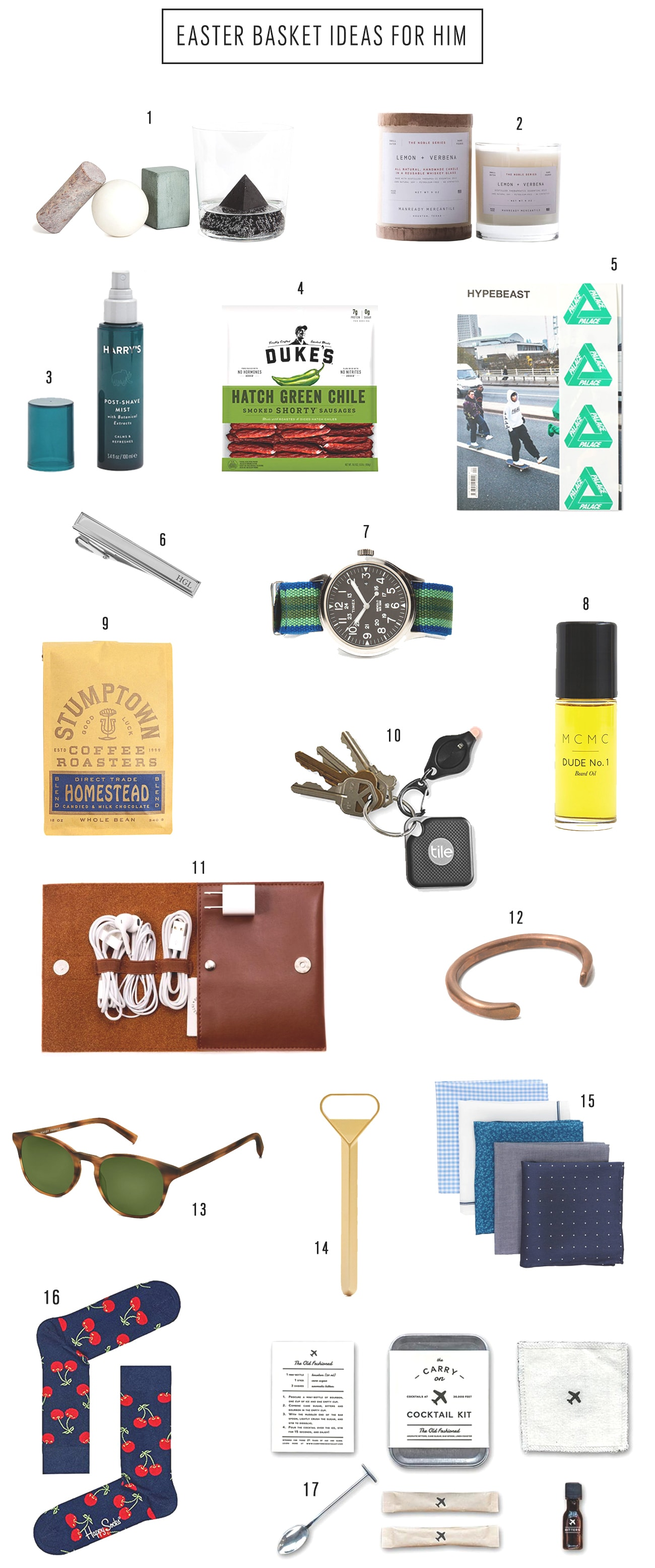 Easter Basket Ideas For Him by top Houston lifestyle blogger Ashley Rose of Sugar & Cloth