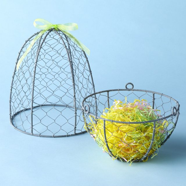 photo of the Oversized Easter Egg Basket for adults by top Houston lifestyle blogger Ashley Rose of Sugar & Cloth