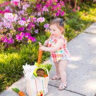 Gwen, Lindt & Crate & Barrel Easter Basket by top Houston lifestyle blogger Ashley Rose of Sugar & Cloth