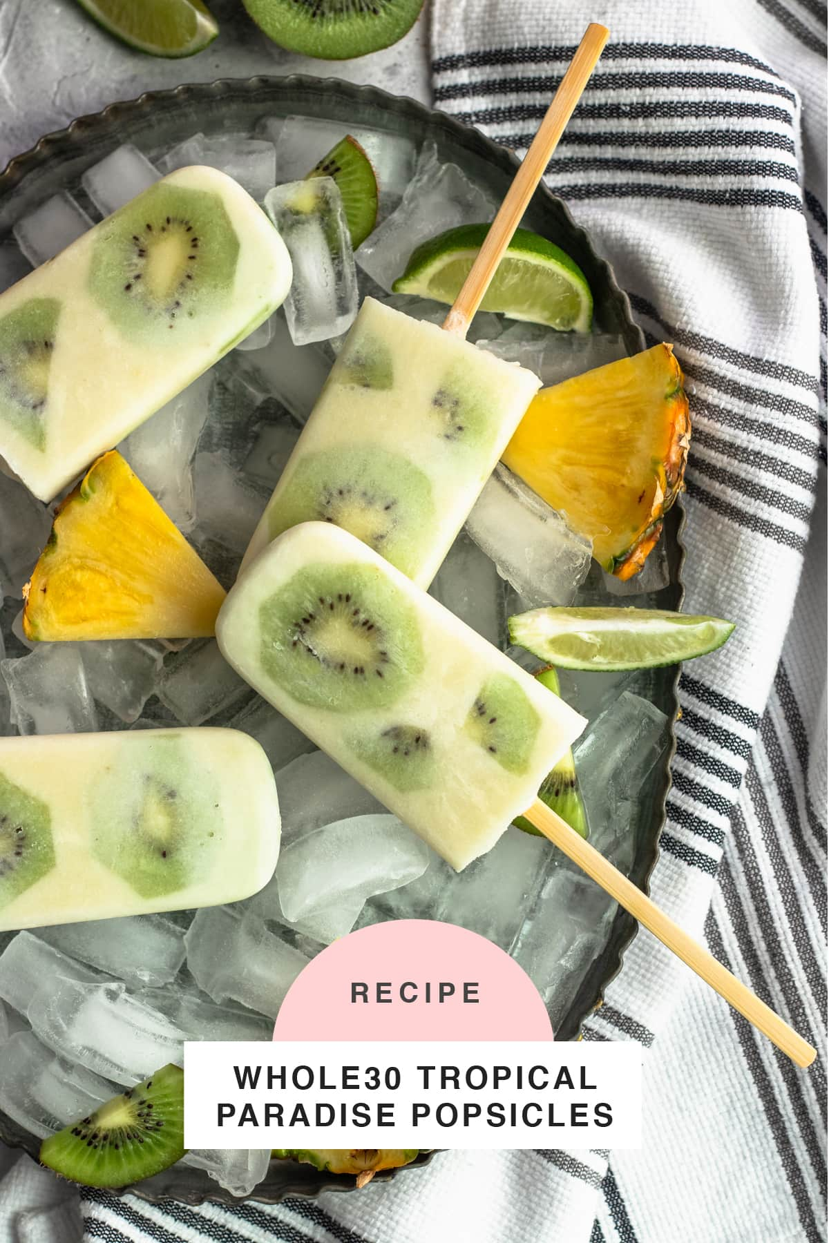 Whole30 Tropical Paradise Popsicles top Houston lifestyle blogger Ashley Rose of Sugar & Cloth