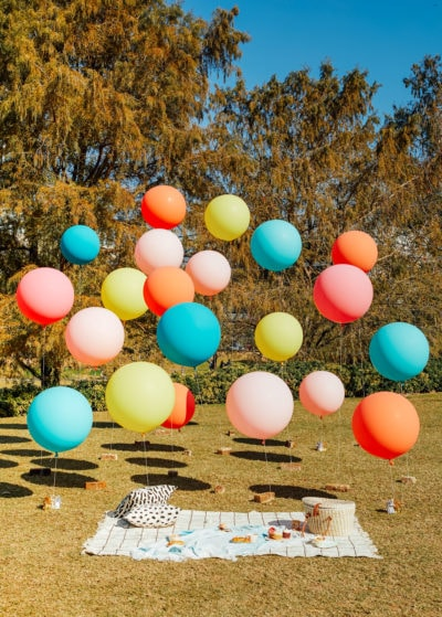 Epic balloons in the park! - Things I Didn't Know About Basic Financial Planning + Insurance Until Having A Family by top Houston lifestyle blogger Ashley Rose of Sugar & Cloth - #family #budget #budgeting #tips #planning #finances #financial #insurance #help #guide