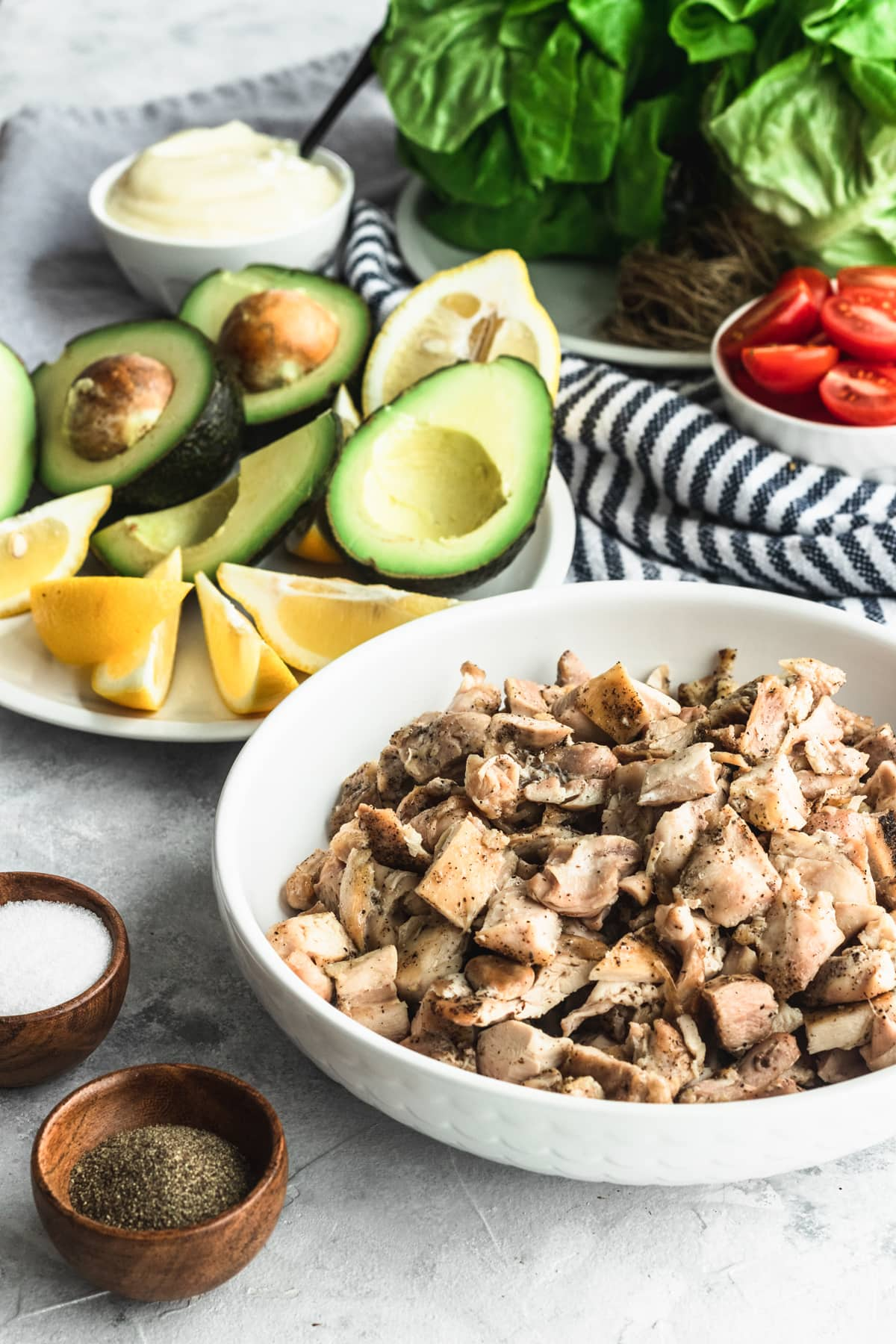 Whole30 Avocado Chicken Salad Wraps Recipe Filling top Houston lifestyle blogger Ashley Rose of Sugar & Cloth