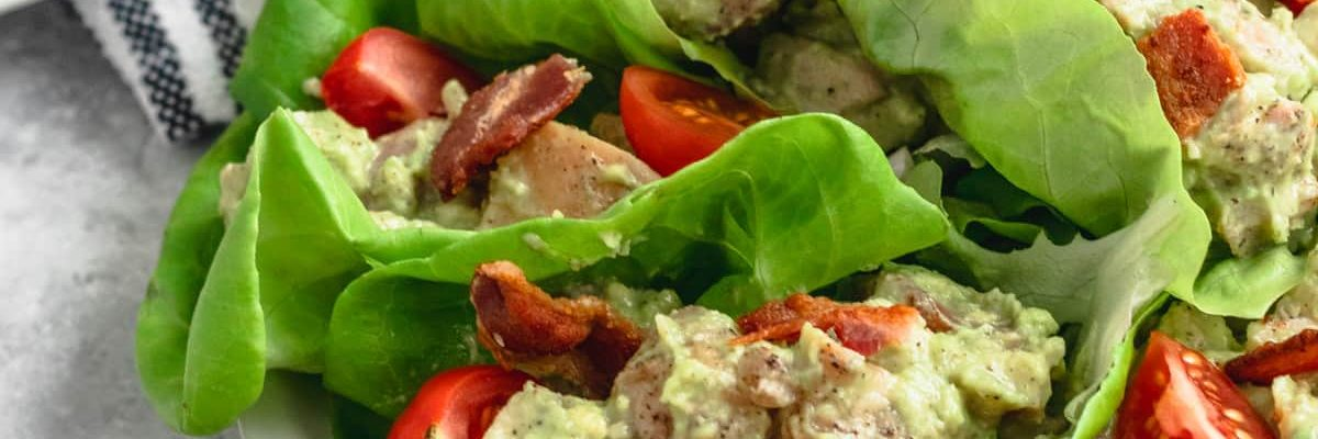 Whole 30 Avocado Chicken Salad Wraps Recipe top Houston lifestyle blogger Ashley Rose of Sugar & Cloth