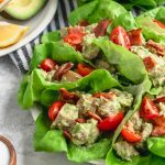 Whole 30 Avocado Chicken Salad Wraps Recipe top Houston lifestyle blogger Ashley Rose of Sugar & Cloth