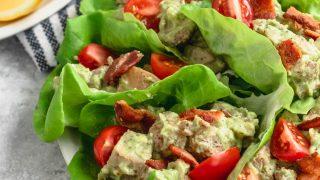 Whole30 Avocado Salad Chicken Wraps Recipe