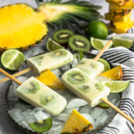 Whole 30 Tropical Popsicles by top Houston lifestyle blogger Ashley Rose of Sugar & Cloth