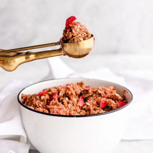 Strawberry Almond Energy Balls Recipe Ingredients by top Houston lifestyle blogger Ashley Rose of Sugar & Cloth