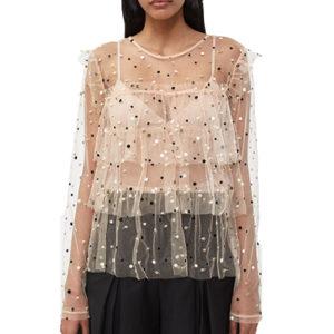 Emilianne Sheer Top Fashion Shop