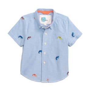 Mini Boden Chameleon Shirt Kids by top Houston lifestyle blogger Ashley Rose of Sugar & Cloth