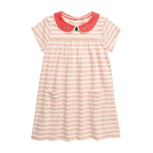Mini Boden Strawberry Dress Kids by top Houston lifestyle blogger Ashley Rose of Sugar & Cloth