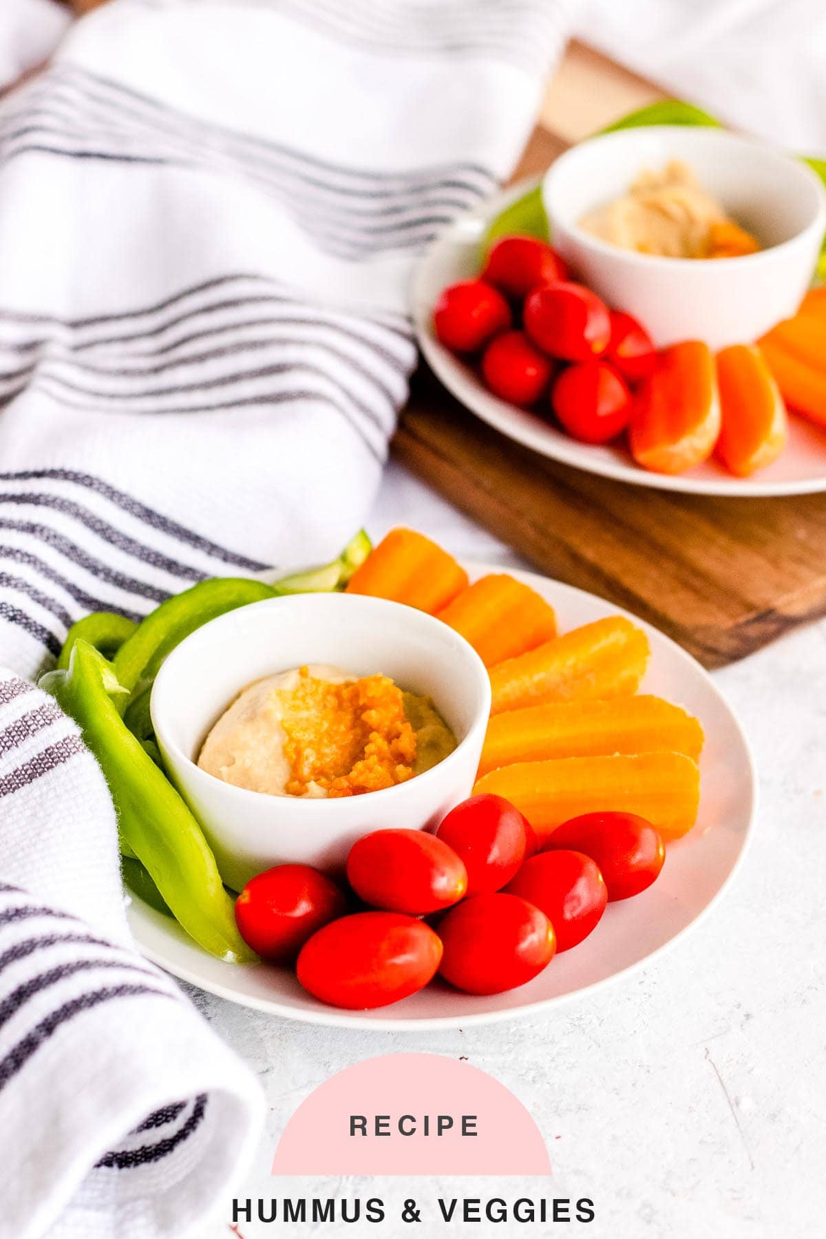 RECIPE Hummus & Veggies by top Houston lifestyle blogger Ashley Rose of Sugar & Cloth