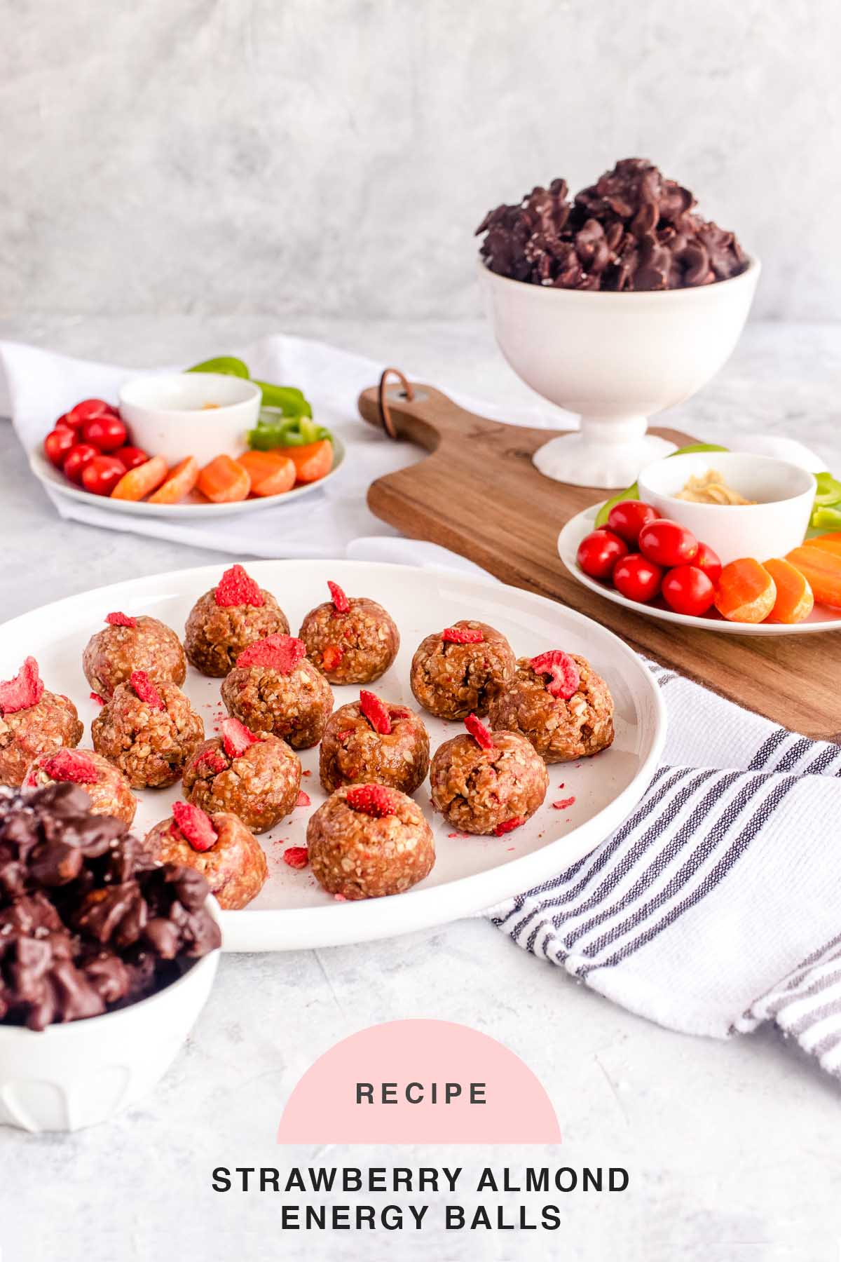 RECIPE Strawberry Almond Energy Balls by top Houston lifestyle blogger Ashley Rose of Sugar & Cloth