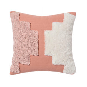 Tufted Square Throw Pillow Coral + Nate Berkus Home Decor