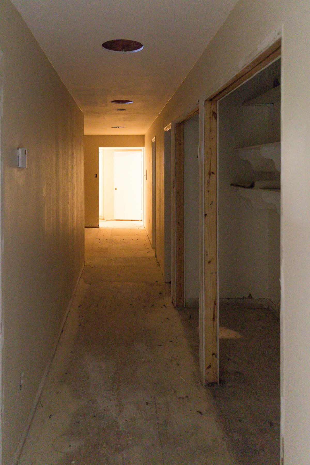 the old hallway view - Sugar & Cloth Casa: Before & After of Installing Skylights in The New House