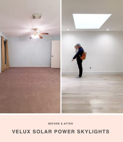 Sugar & Cloth Casa: Before & After of Installing Skylights in The New House #decor #beforeandafter