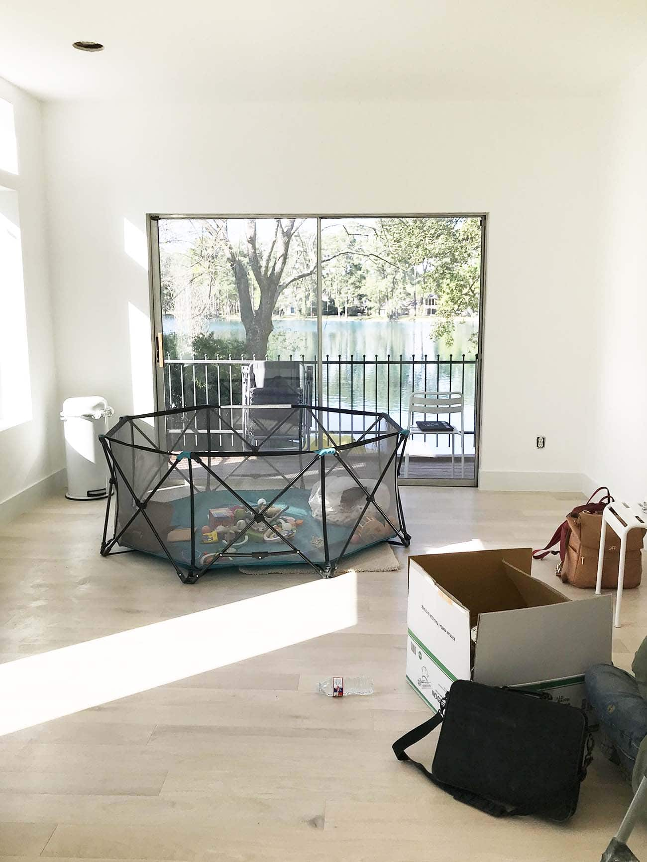 it will have a good view though! A Peek Inside My New Studio & Craft Closet by top Houston lifestyle blogger Ashley Rose of Sugar & Cloth #design #organizing #interiors #craft #craftroom