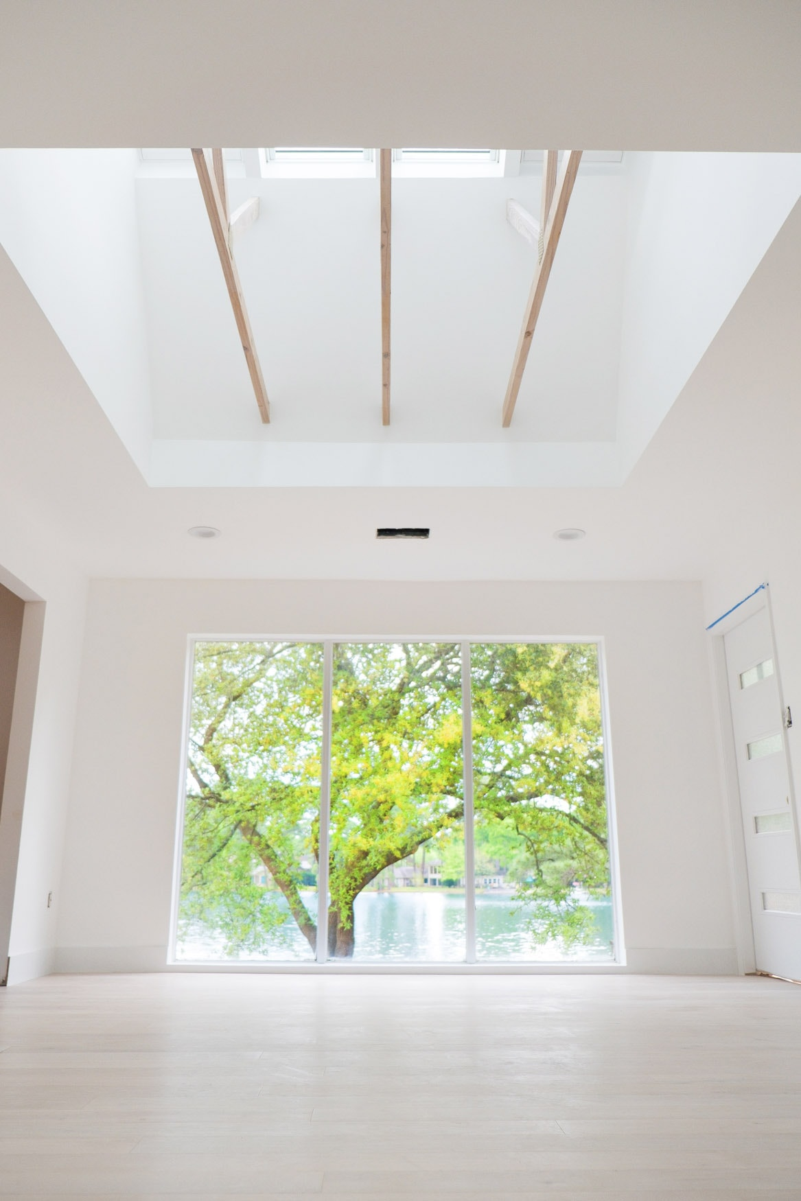 An upward angle on our new master bedroom with Velux skylights - Sugar & Cloth Casa: Before & After of Installing Skylights in The New House
