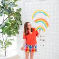 Ashley Rose of Sugar & Cloth for Clorox #rainbow #rainbowtrend