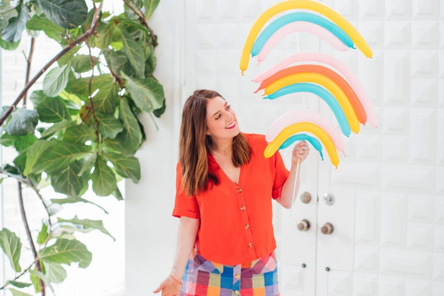 Ashley Rose of Sugar & Cloth for Clorox #rainbow #rainbowtrend