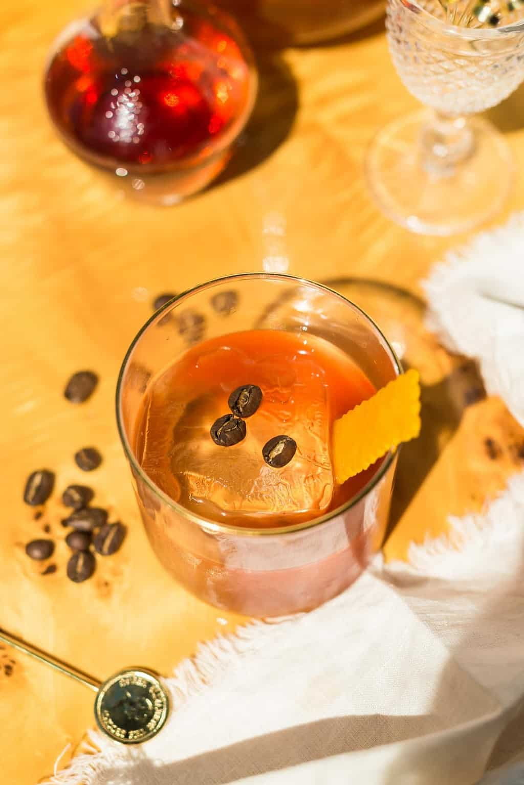 Coffee Old Fashioned Cocktail Father's Day Recipe Garnishes Ashley Conway for Sugar & Cloth