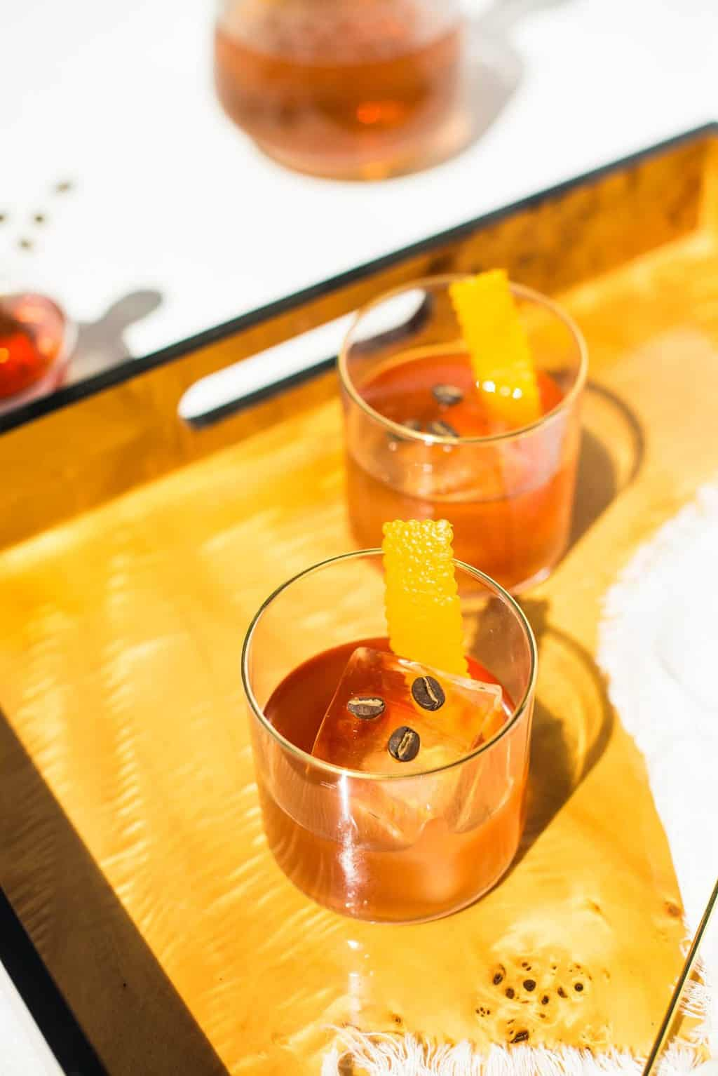 Coffee Old Fashioned Cocktail Recipe by top Houston lifestyle blogger Ashley Rose of Sugar & Cloth