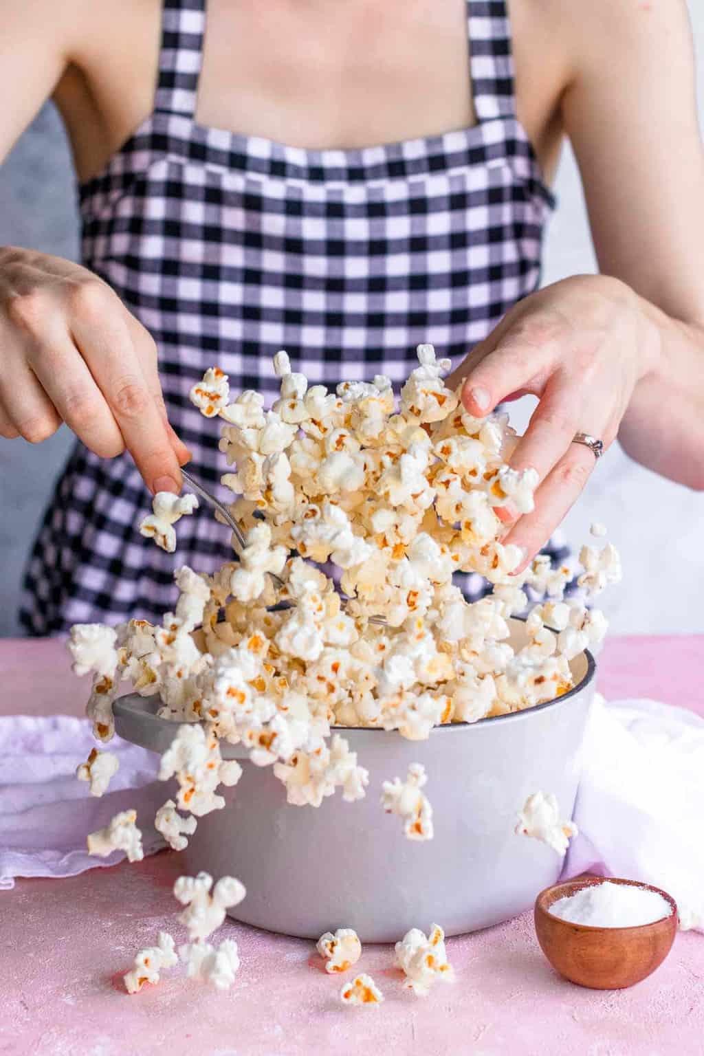 Stovetop Popcorn Recipe Heathy Snack Idea