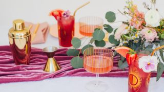 Sparkling Strawberry Hibiscus Cooler Cocktail Recipe