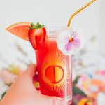 Mothers Day Brunch Sparkling Strawberry Hibiscus Cooler Cocktail by top Houston lifestyle blogger Ashley Rose of Sugar & Cloth