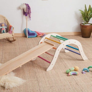 Wiwikura Pastel Pikler Climbing Arch with Reversible Board Kids