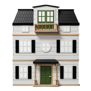 Wooden Dollhouse with Furniture - Hearth & Hand Kids