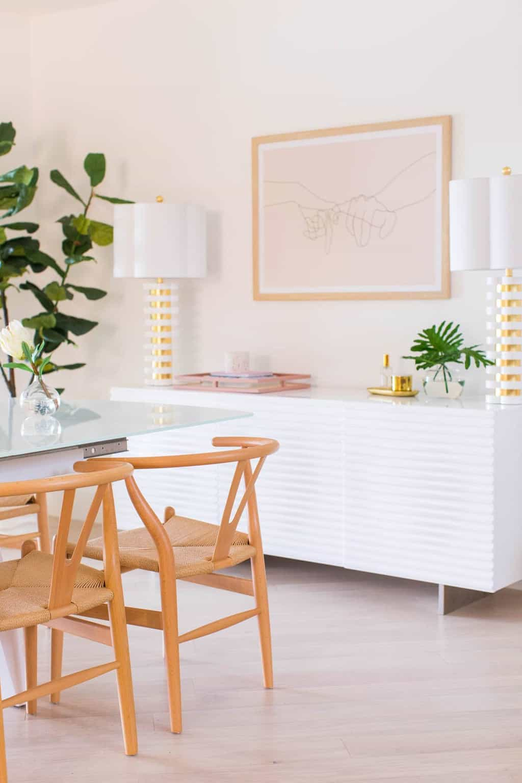 I cannot express my excitement over revealing our living room and dining room design plus before and afters of our renovated, mid century space! by top Houston lifestyle blogger Ashley Rose of Sugar & Cloth #design #interiors #decor #home