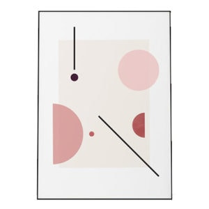 Abstract Floating Shapes Print