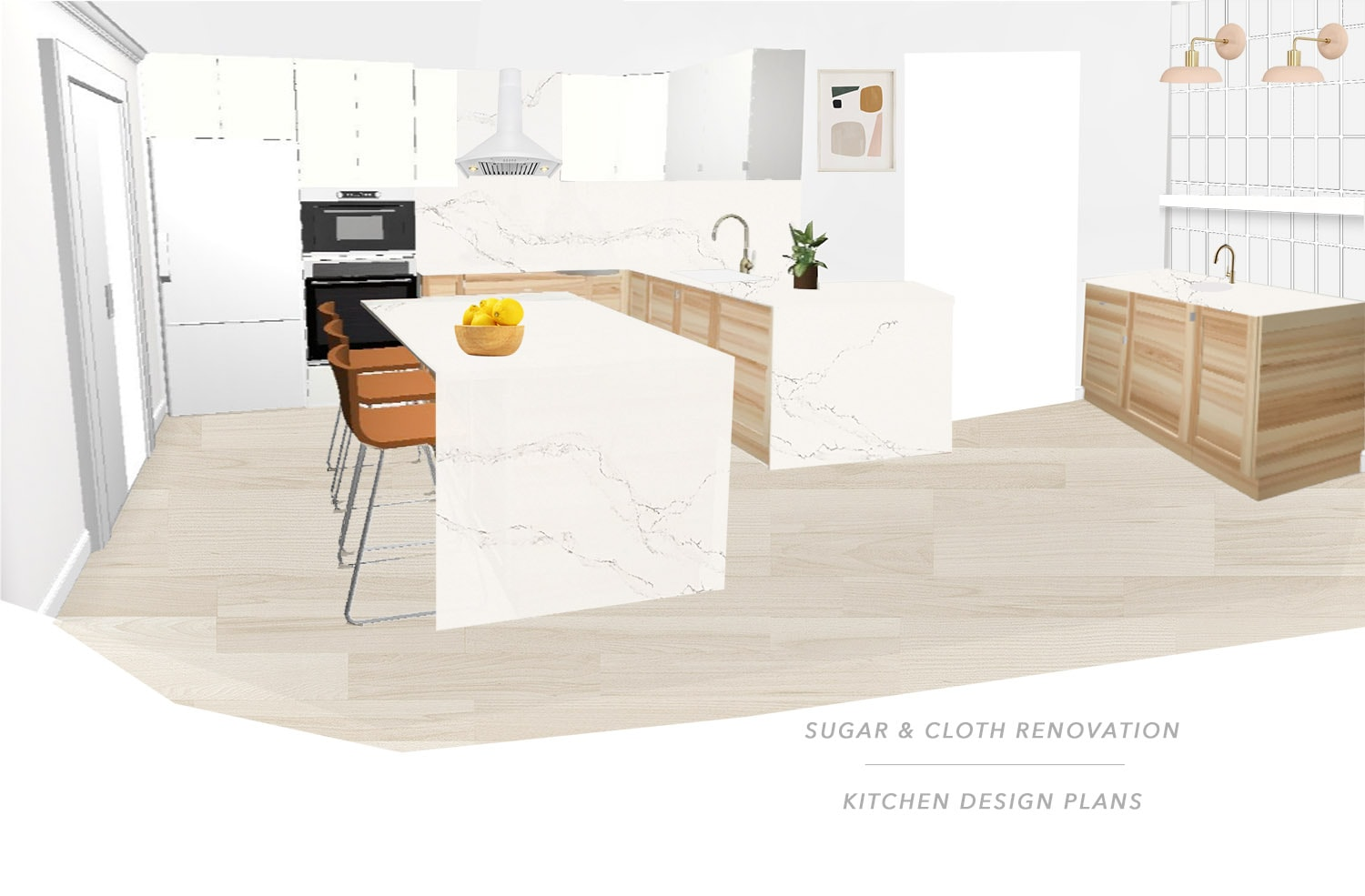 Sharing the concept for our new mid century modern kitchen design plan with a traditional flair! by Top Houston lifestyle blog Ashley Rose of sugar and cloth #kitchen #design #interiors #homedecor