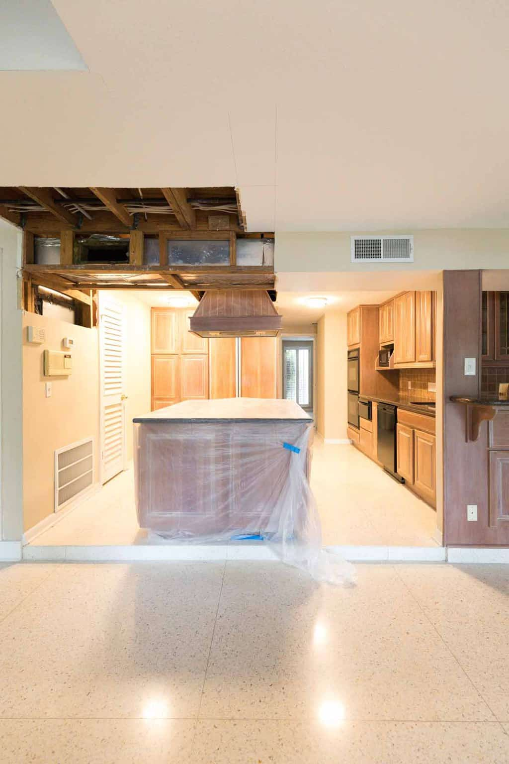 before photo - Sharing the concept for our new mid century modern kitchen design plan with a traditional flair! by Top Houston lifestyle blog Ashley Rose of sugar and cloth #kitchen #design #interiors #homedecor