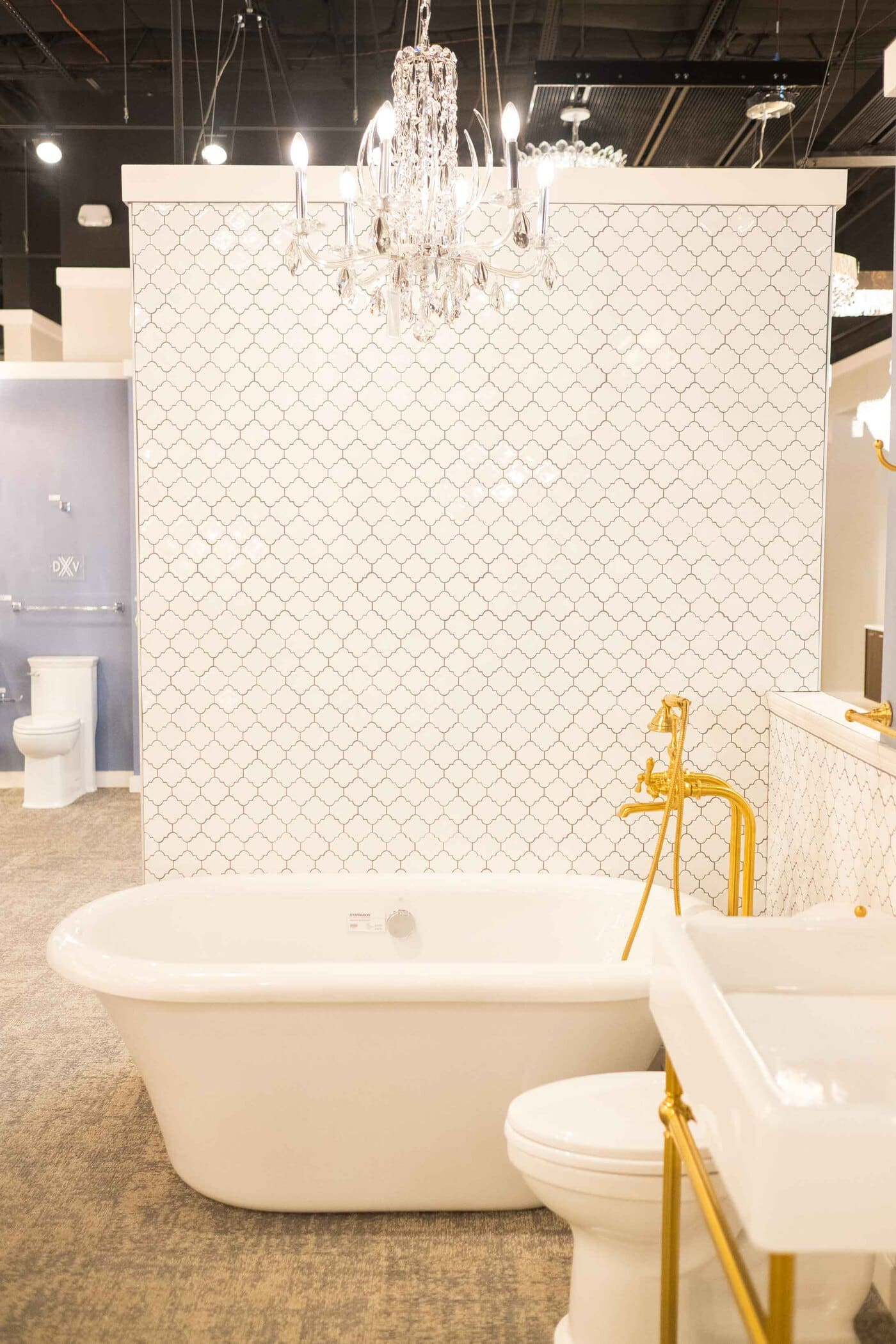 photo of a freestanding bathtub at ferguson showrooms by sugar and cloth
