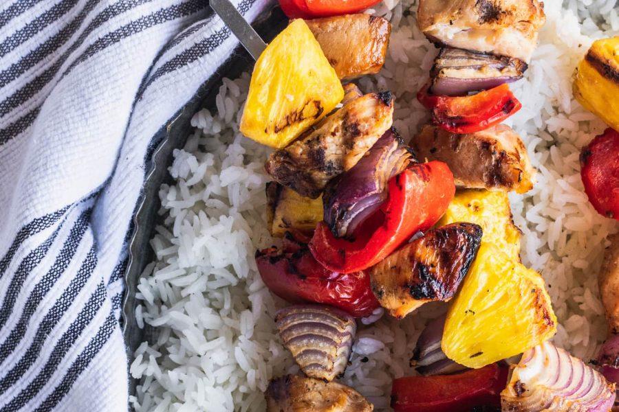Huli Huli Hawaiian Kebabs Recipe by top Houston lifestyle blogger Ashley Rose of Sugar & Cloth