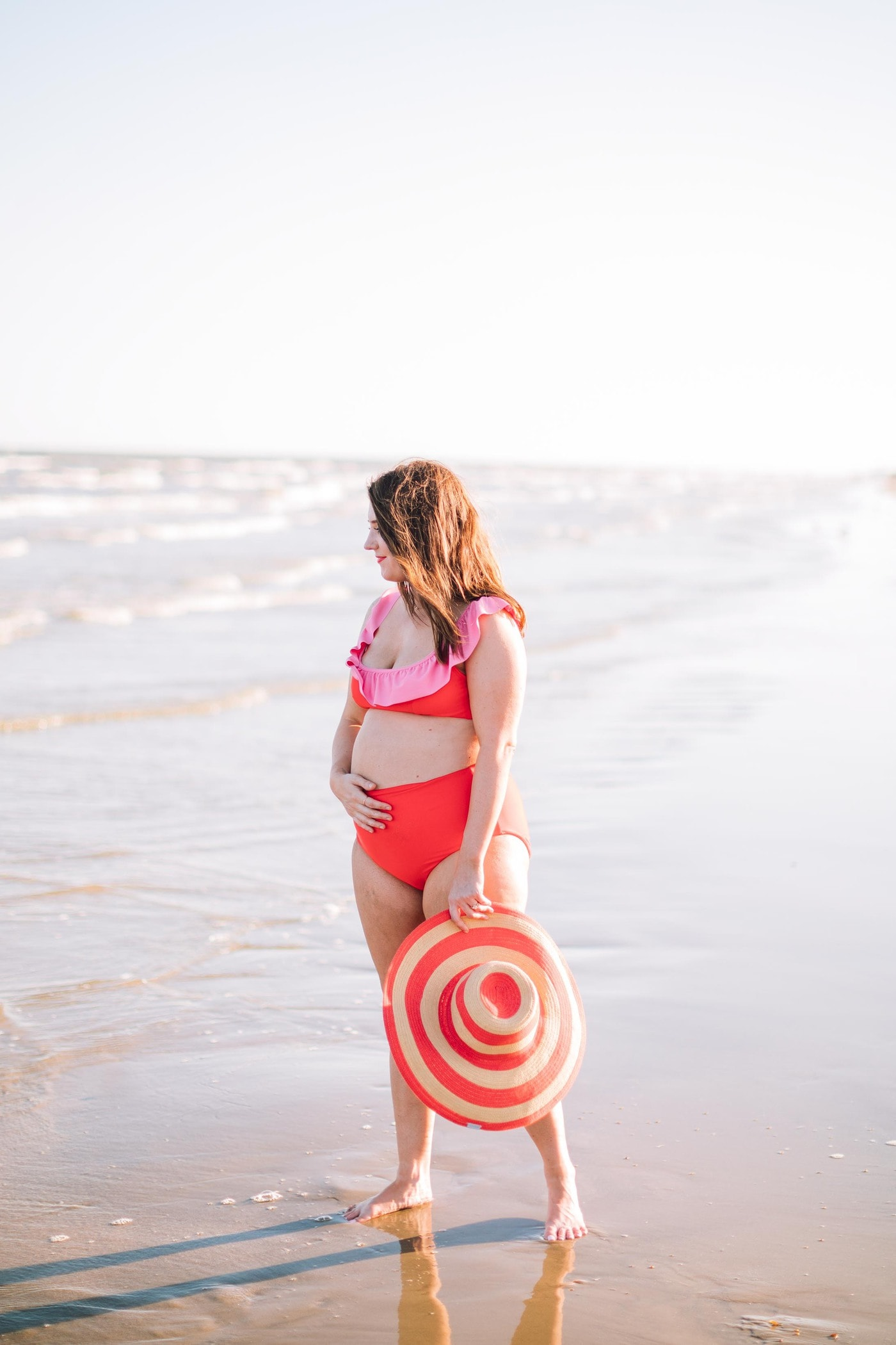 I'm so excited to announce that our Mommy and Me Swimsuit designs for Olivia and Ocean are finally here! Sharing all of the details on our bikinis and one pieces! by top Houston lifestyle blogger Ashley Rose of Sugar & Cloth #swimsuit #style #mommyandme #design